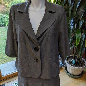 Lane Bryant Grey Suit (Jacket & Skirt) 16/18